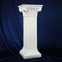 Колонна 'Античная', белый 65х27см