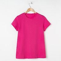 Футболка женская, цвет розовый МИКС, размер 52
