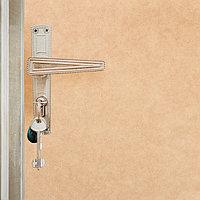 Комплект для обивки дверей 110 x 205 см иск.кожа, поролон 3 мм, гвозди, бежевый, 'Эконом'