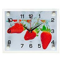 Часы настенные, серия Кухня, 'Клубника', 20х26 см микс