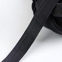 Лента брючная, 15 мм, 25 ± 1 м, цвет чёрный