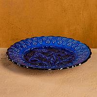 Тарелка плоская 26см 'Синий тюльпан'