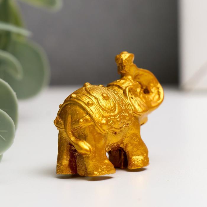 Нэцке полистоун 'Золотые слоны' набор 6 шт 3х3,5х1,7 см - фото 3
