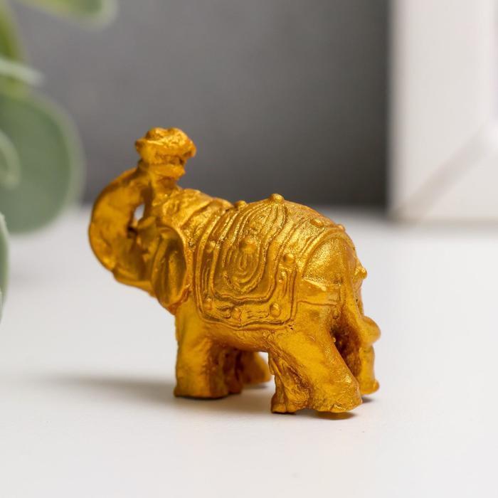 Нэцке полистоун 'Золотые слоны' набор 6 шт 3х3,5х1,7 см - фото 4