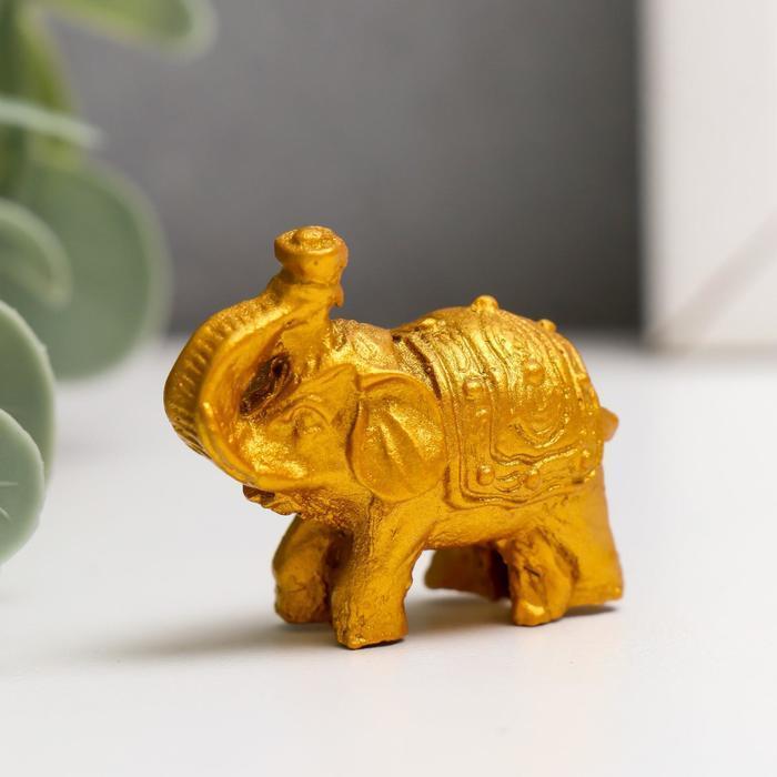 Нэцке полистоун 'Золотые слоны' набор 6 шт 3х3,5х1,7 см - фото 5
