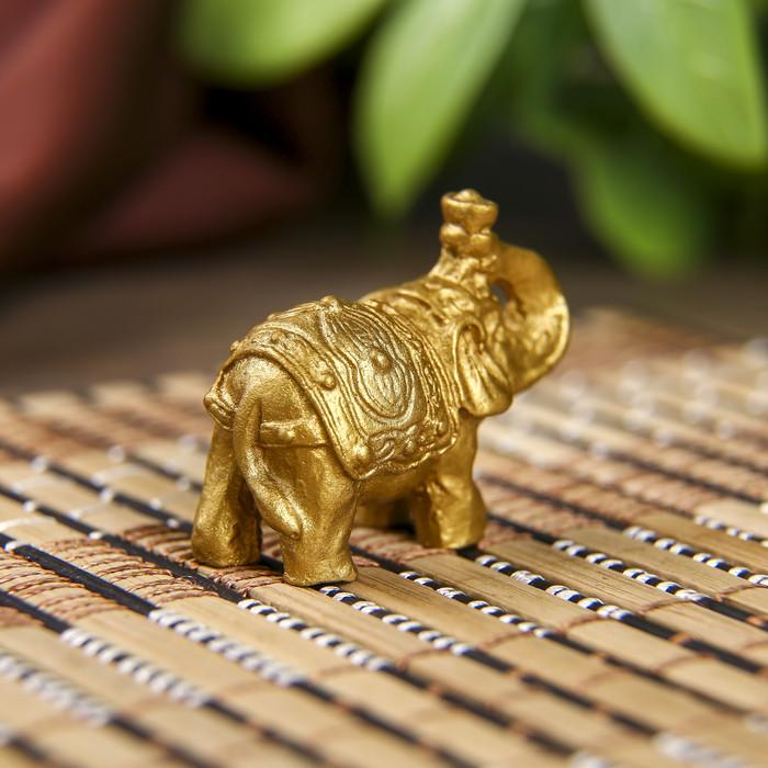 Нэцке полистоун 'Золотые слоны' набор 6 шт 3х3,5х1,7 см - фото 6