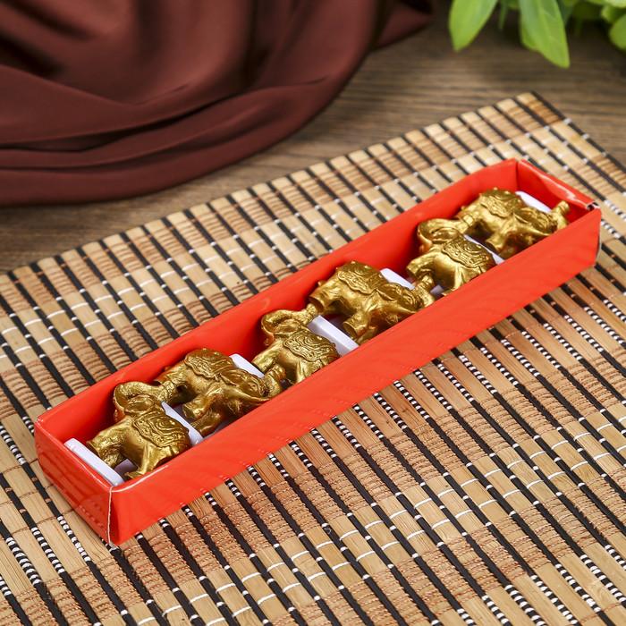 Нэцке полистоун 'Золотые слоны' набор 6 шт 3х3,5х1,7 см - фото 8