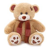 Мягкая игрушка 'Медведь Тони с шарфом' кофейный, 70 см