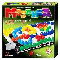 Мозаика круглая, 120 элементов по 20мм, 6 цветов, 2 платы