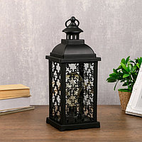 Ночник 'Домашний фонарь' LED черный 13,5х13,5х39 см.
