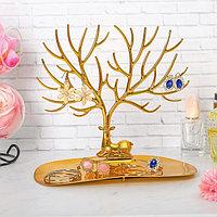 Подставка для украшений 'Олень', 25*15*22 см, прямоугольное основание, цвет золотой
