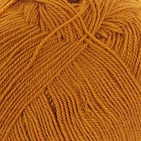 Пряжа 'Кроссбред Бразилии' 50меринос.шерсть, 50 акрил 500м/100гр (447-Горчица)