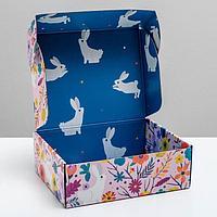 Коробка двухсторонняя складная 'Флористика', 27 x 21 x 9 см (комплект из 2 шт.)