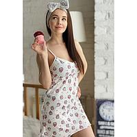 Сорочка женская, цвет молочный, размер 46