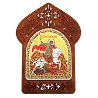 Ажурная икона на подставке 'Святой Георгий Победоносец'