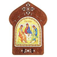 Ажурная икона на подставке 'Святая Троица'