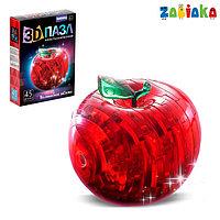 Пазл 3D кристаллический 'Яблоко', 45 деталей, световой эффект, цвета МИКС, работает от батареек