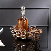 Мини-бар деревянный 'Велосипед', 16х13х6, светлый