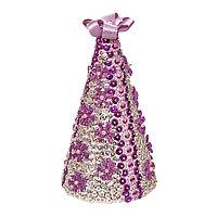 Набор для творчества 'Ёлка новогодняя из пайеток фиолетовая'