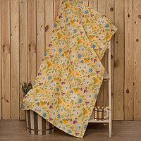 Полотенце для бани 'Русское поле' 80х 150 см, хлопок вафельное полотно