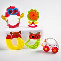 Набор погремушек-прорезывателей 'Наш малыш' 5 шт, цвет МИКС