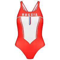 Купальник спортивный, слитный, женский RUSSIA, размер 46