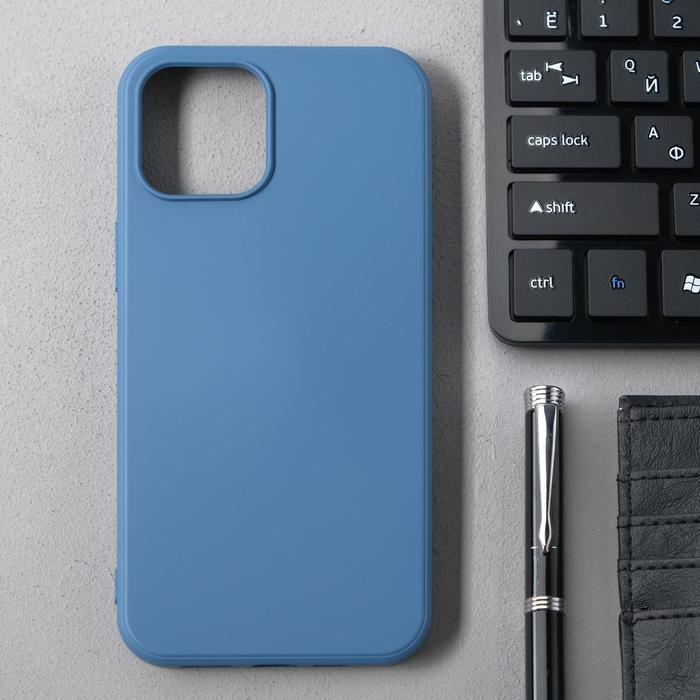Чехол Activ Full Original Design, для Apple iPhone 12 Pro Max, силиконовый, синий - фото 1