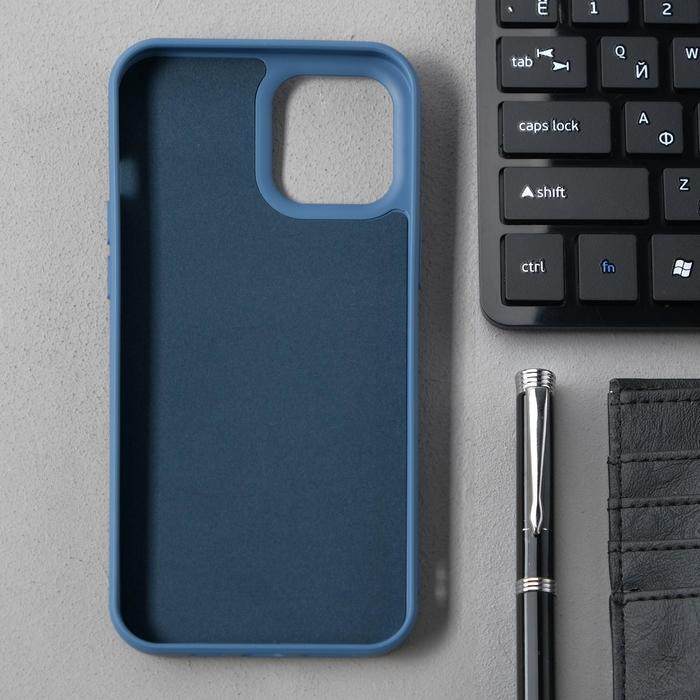 Чехол Activ Full Original Design, для Apple iPhone 12 Pro Max, силиконовый, синий - фото 2