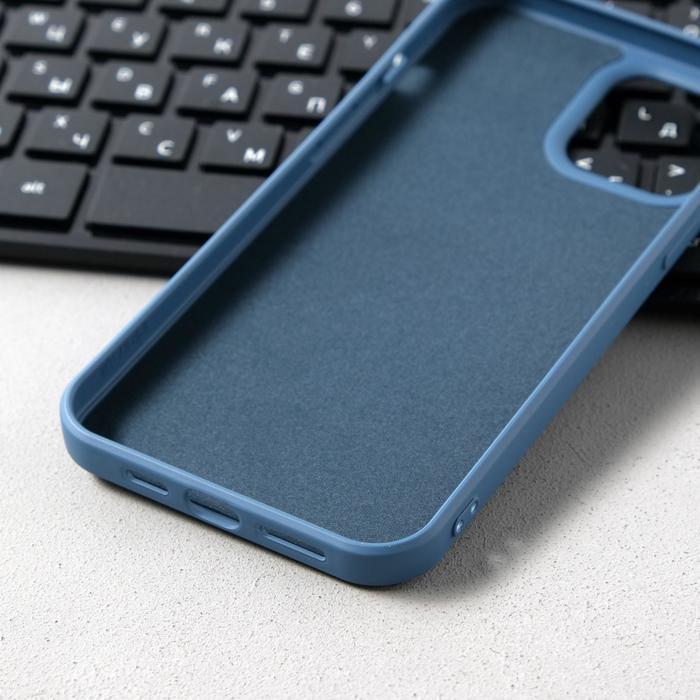 Чехол Activ Full Original Design, для Apple iPhone 12 Pro Max, силиконовый, синий - фото 3