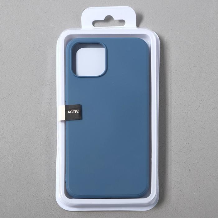 Чехол Activ Full Original Design, для Apple iPhone 12 Pro Max, силиконовый, синий - фото 4