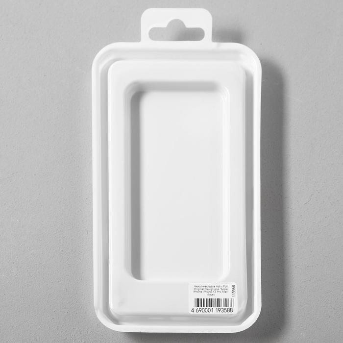 Чехол Activ Full Original Design, для Apple iPhone 12 Pro Max, силиконовый, синий - фото 5