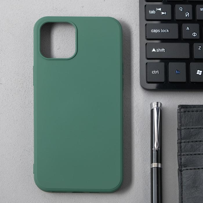 Чехол Activ Full Original Design, для Apple iPhone 12 Pro Max, силиконовый, тёмно-зелёный - фото 1