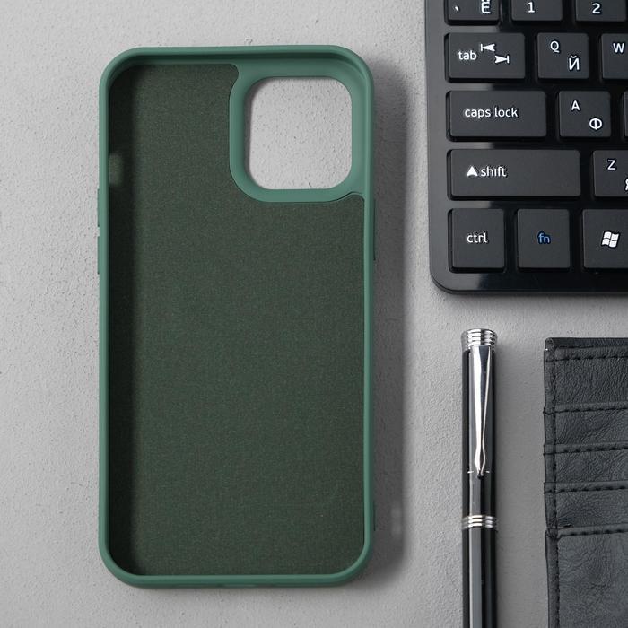 Чехол Activ Full Original Design, для Apple iPhone 12 Pro Max, силиконовый, тёмно-зелёный - фото 2