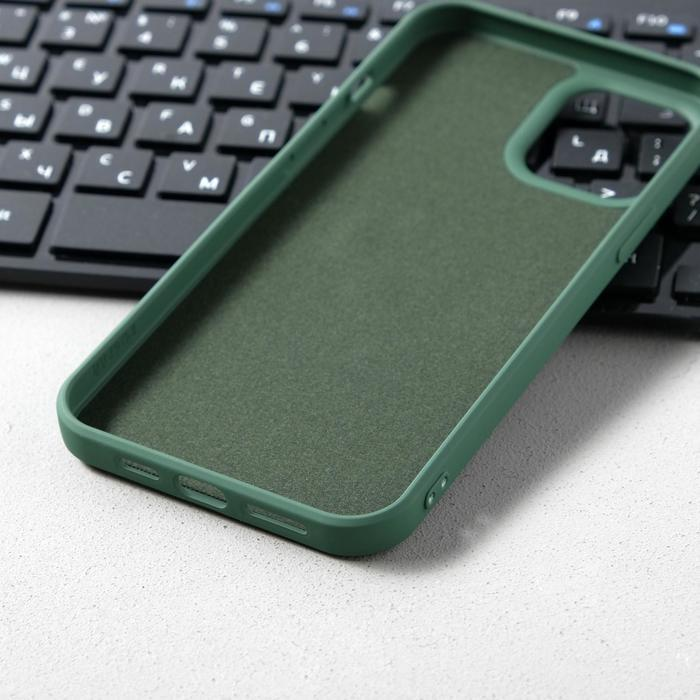 Чехол Activ Full Original Design, для Apple iPhone 12 Pro Max, силиконовый, тёмно-зелёный - фото 3