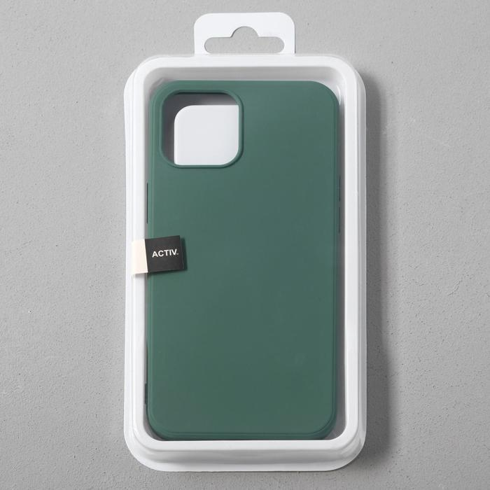 Чехол Activ Full Original Design, для Apple iPhone 12 Pro Max, силиконовый, тёмно-зелёный - фото 4