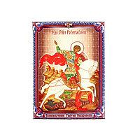 Икона холст 'Великомученик Георгий Победоносец' на подвесе