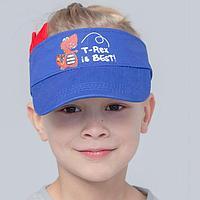 Козырёк для мальчика, цвет синий, размер 48-56
