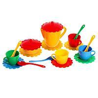 Большой набор детской посуды 'Ромашка' на 4 персоны, МИКС