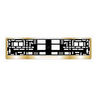 Рамка для автомобильного номера AVS RN-13 хром, золото
