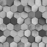 Самоклеящаяся антивандальная пленка для декора ' Стена из шестигранников. Бетон' 60х155 см
