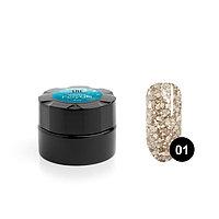 Гель для дизайна ногтей TNL Winter fairytale 1 'Брызги шампанского', 6 мл