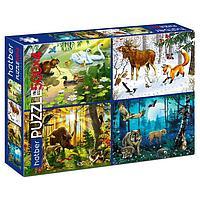 Набор пазл 'Лесные жители', 4 картинки в 1 коробке, по 500 элементов