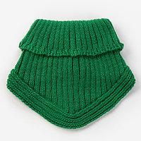 Шарф-манишка для мальчика, размер 3-6 лет, цвет зеленый