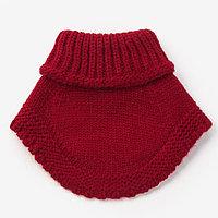 Шарф-манишка для девочки, размер 3-6 лет, цвет красный