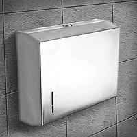 Диспенсер бумажных полотенец в листах, нержавеющая сталь
