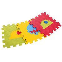Детский коврик-пазл 'Два ежа' (мягкий), 9 элементов 33 х 33 х 0,9 см, термоплёнка