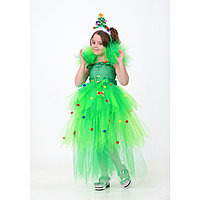 Карнавальный костюм 'Ёлочка', сделай сам, корсет, ленты, брошки, аксессуары