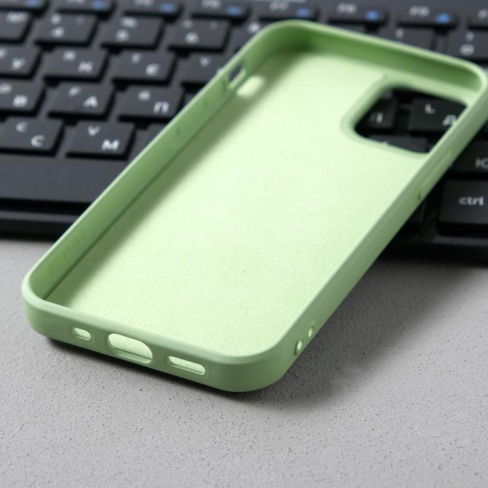 Чехол Activ Full Original Design, для Apple iPhone 12 mini, силиконовый, светло-зелёный - фото 3