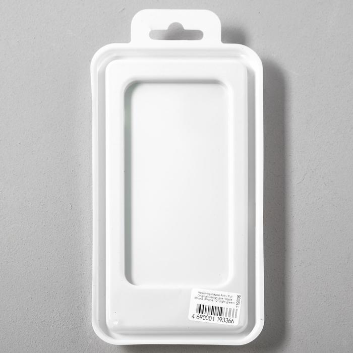 Чехол Activ Full Original Design, для Apple iPhone 12 mini, силиконовый, светло-зелёный - фото 5