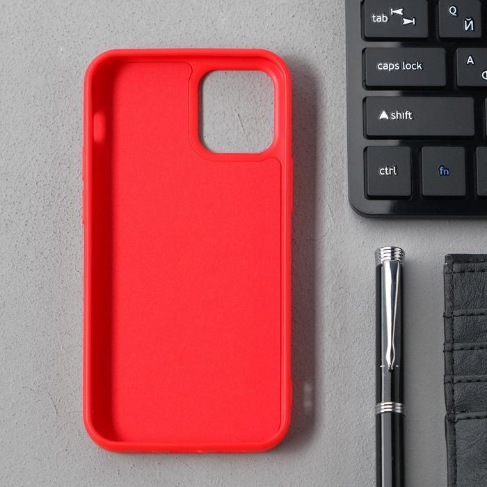 Чехол Activ Full Original Design, для Apple iPhone 12 mini, силиконовый, красный - фото 2